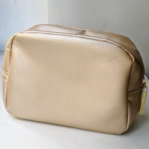 LANCOME Gold Makeup Bag